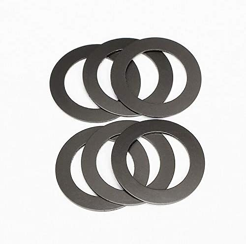 Inner Dia: 5.6mmx30mmx0.8mm WSHR-39325 25pcs M5.6 Nylon Graphite Washer Flat Washers Plastic Gasket Ultra-Thin Gaskets High-Temperature Resistance Black