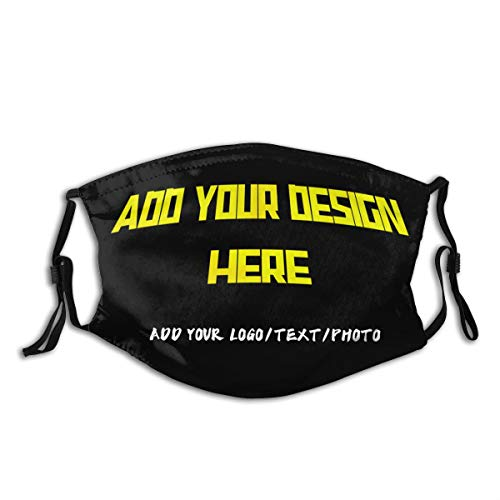 Custom Own Text-Personalized Design Bandana Add your Text Picture Logo 3D Balaclava Face Mask face cover Unisex