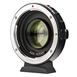 Lens Adapter EF-M2 II Auto-Focus 0.71x Speed-Booster MFT Converter for Canon EF Lenses to M4/3 Cameras GH4 GH5 GF6 GF1 GX1 GX7 GX85 E-M5 E-M10 E-M10II E-PL5 Pen-F