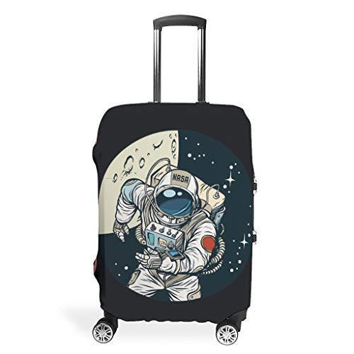 NASA - Protector de maleta reutilizable para astronauta y evita rozaduras de 18-32 pulgadas para maleta con ruedas sobre astronauta de lados blandos, blanco (Blanco) - Xuanwuyi5462