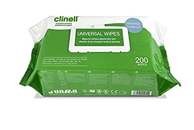 Clinell Universal Disinfectant Wipes - Pack of 200 Large Wipes. from