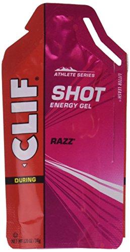 Clifbar Clif Shot Energy Gel - 24 paquete Razz, un tamaño