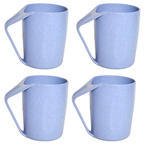 Wheat Straw Picnic Mugs Almost Unbreakable (Blue)