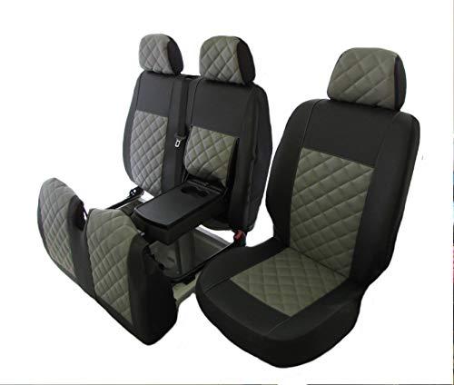 Texmar Kunstleder-Sitzbezüge für das Auto, links schwarz/grau