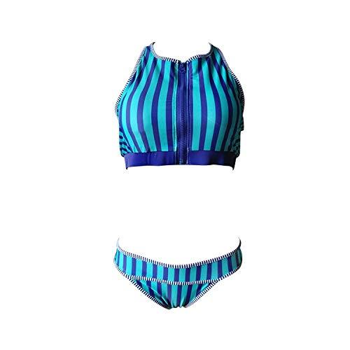 Alvnd Sports bikini split badpak vrouwen gestreepte badpak (met borst pad, geen stalen steun)