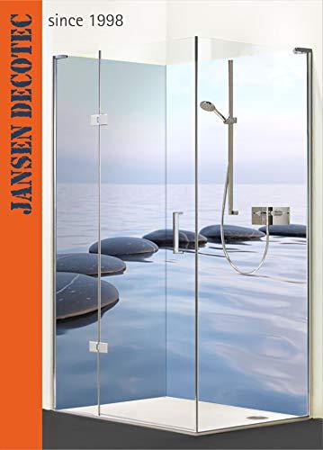 Eck-Duschrückwand, 2 Segmente je 90x200cm, Motiv: Feng_Shui_Wasser - KOSTENLOSER Zuschnitt !