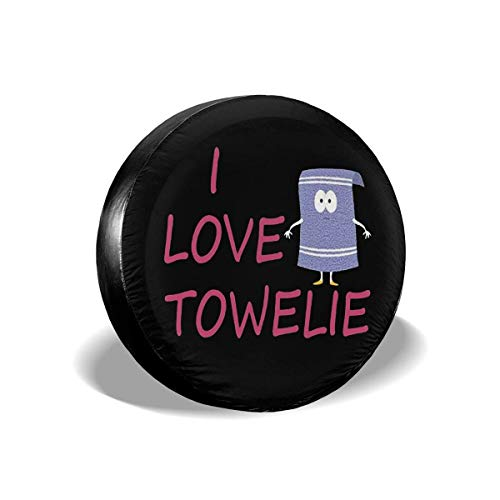 AEMAPE I Love Towelie - Funda para neumático de Repuesto, Ajuste Universal para Jeep, Remolque, RV, SUV, camión y Muchos vehículos, diámetro de 17 Pulgadas