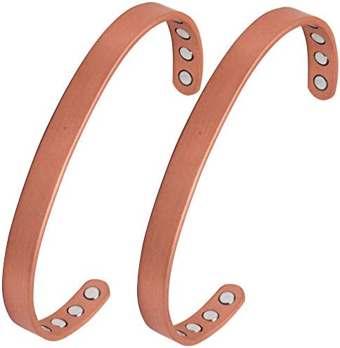 Plain Magnetic Copper Bracelet for Arthritis Carpal Tunnel Tendonitis RSI and Migraines Copper product image