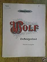 vocal HUGO WOLF verborgenheit , low voice