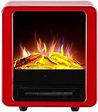 WECDS Gas -Kamin Elektroherd Kamine,Holzofen Electric Fire Herd,Stand -Elektro Kamin Feuer Holz Log Brenneffekt Flamme Heizung Stove900 / 1800W Geeignet für Wohnzimmer,Schlafzimmer,Stud