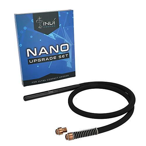 INVI® Nano Shisha Schlauch Upgrade Set Edelstahl | Das Zusatz-Set für schöne Momente zu zweit | Passend Nano-Reise-Shisha (Rose Gold)