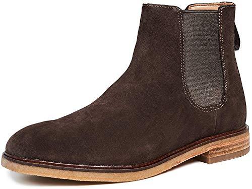 Clarks Men's Clarkdale Gobi Chelsea Boot, Dark Brown Suede, 140 M US