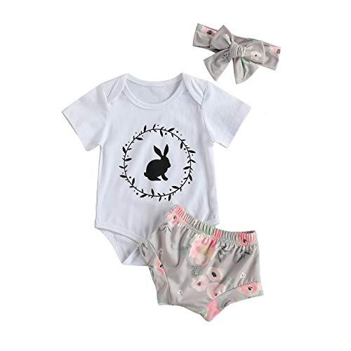 Conjunto de ropa de verano de 3 piezas de ropa de verano para bebés y niñas