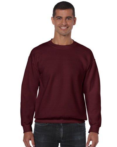 Gildan Herren 50/50 Adult Crewneck Sweat Sweatshirt, Braun (Maroon Maroon), XL