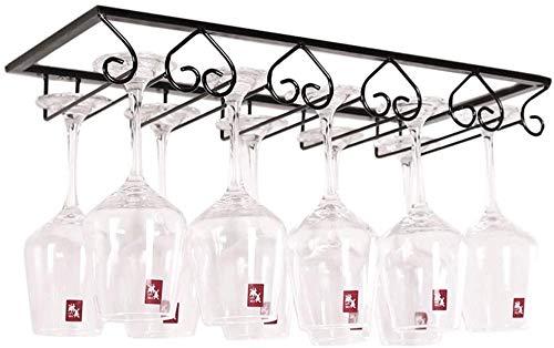 Auveach Portabicchieri da Vino 3/4/5 Binari per 6/8/10 Bicchiere di Vino Mantieni I Bicchieri Asciutti a Sospensione o a Parete Cromato Wine Glass Holder Casa Vino Bar Decorazione Cuore (5 Binari)