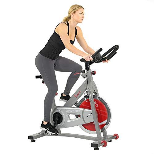 Sunny Health & Fitness - Máquina de entrenamiento para bicicleta de interior con volante de 40 libras y resistencia de fieltro doble - Pro/Pro II