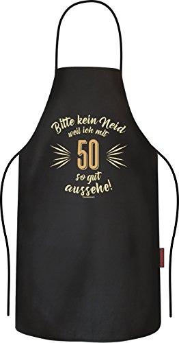 RAHMENLOS Original BBQ Grillschürze, das Geschenk zum 50. Geburtstag: Bitte kein Neid…