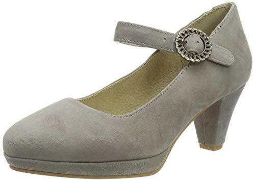 Stockerpoint Damen Schuh 6006 Riemchenpumps, Braun (Taupe), 39 EU