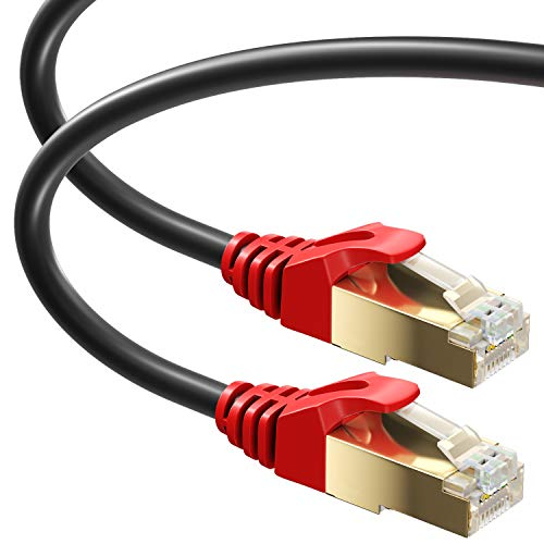 MutecPower 5m Cat 7 Impermeables para Exteriores - RJ45 Cable de Red...