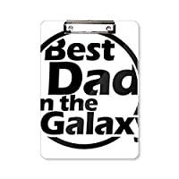 銀河の引用は、父の日に最高のおとうさん フラットヘッドフォルダーライティングパッドテストA4