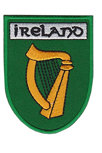 Écusson brodé thermocollant avec harpe Irlande