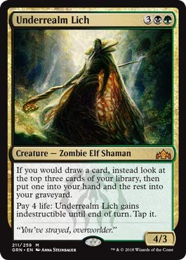 Magic The Gathering - Underrealm Lich (211/259) - Guilds of Ravnica