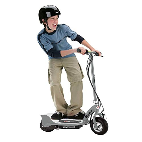 Razor E325 Durable Adult & Teen Ride-On 24V Motorized High-Torque Power Electric Scooter, Speeds up to 15 MPH with Brakes and Pneumatic Tires, Silver
