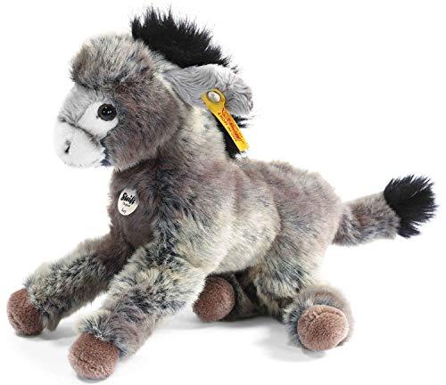 Steiff 280337 - Issy Esel 24 cm, grau/beige liegend