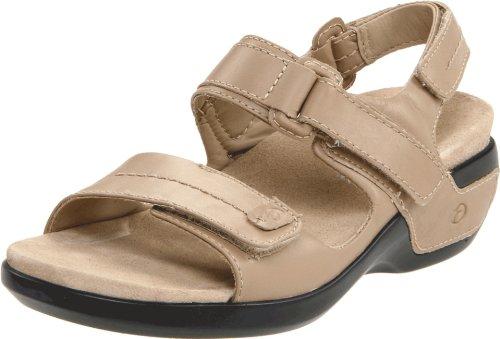 Aravon Womens Katy,Taupe Leather,6 M (B)