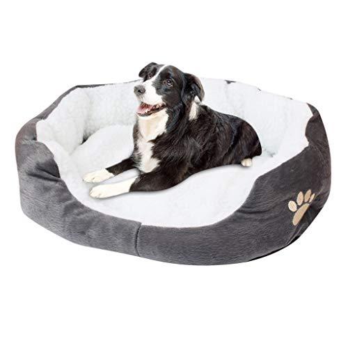Carrymee Hundebett Hundekörbchen Hundekissen Hundekorb Waschbar Orthopaedic Memory Plüsch Warm Weiche Hundesofa für Kleine Mittlere Grosse Hunde und Katzen
