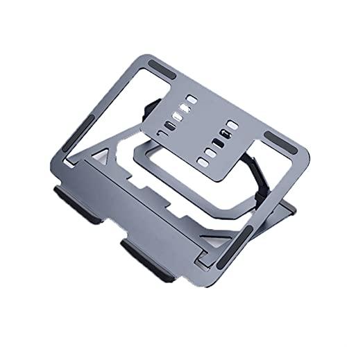 LDH Supporto pc Portatile for La Scrivania, Supporto for Laptop in Lega di Alluminio for Recita Sollevamento Pieghevole for Il Desktop for Il Raffreddamento Piatto Pieghevole (Colore : Grey)