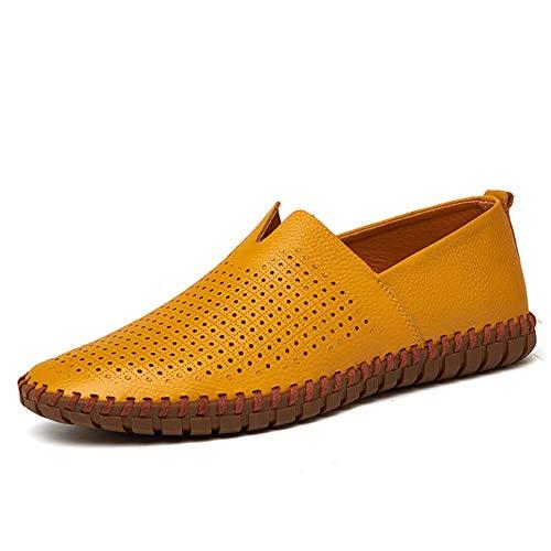 TAZAN Moccasin mannen casual leren schoenen rijden Lok Fu boot schoenen Engeland mesh plat lui grote maat ademende schoenen vakantie zomer