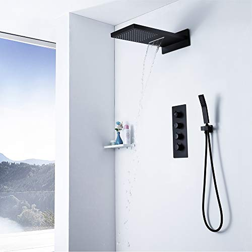 Why Should You Buy RuiXia Wall-Mounted Constant Temperature Waterfall Square Top Spray Supercharged ...