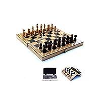 トラベルチェスセット、ポータブル折りたたみボードゲーム、収納ボックス付きの完璧なトラベル、子供向けの教育用学習玩具、Adulポータブル大人向けキッズゲーム