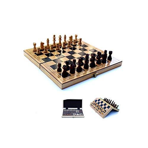 GLXLSBZ Juego de ajedrez de Viaje, Juego de Mesa Plegable portátil, tamaño de Viaje Cajas de Almacenamiento, Juguetes educativos de Aprendizaje para niños (Pensamiento Intelectual)