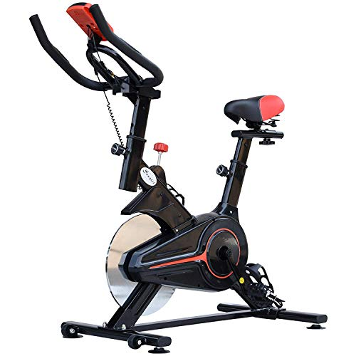 Soozier Upright Exercise Bike Indoor Bicycle Cardio Workout Cycling Trainer Fitness Equipment Home Gym