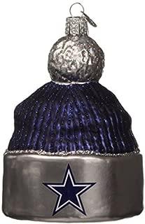 Old World Christmas Dallas Cowboys Beanie Glass Blown Ornament