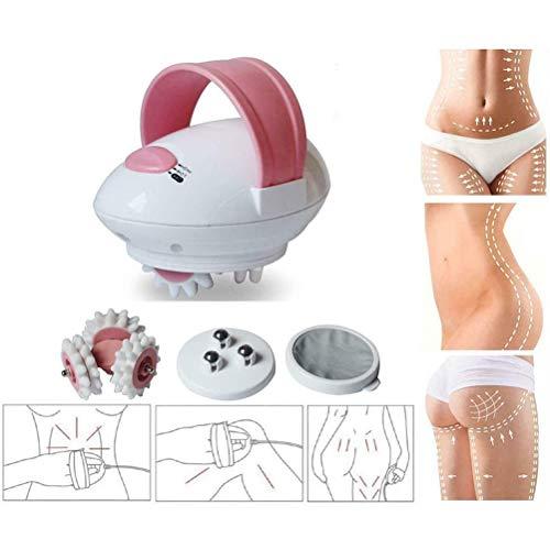 Masajeador corporal, Mini máquina de masaje quemagrasas con rodillo 3D, Rodillo eléctrico de masaje corporal quemagrasas, Masaje anticelulítico para rostro, brazos, manos, cuello, pies y cuerpo