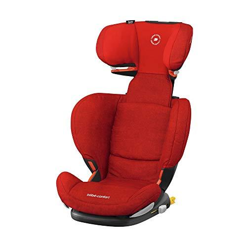 Bébé Confort RODIFIX AirProtect, Silla de auto para niño con ISOFIX, R44/04, reclinable, segura y ligera, desde los 3.5 hasta los 12 años, 15-36 kg, gr. 2/3, Nomad Red