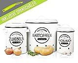 LOFTASTIC® Vorratsbehälter Set inkl. Sparschäler - Perfekt als Kartoffeltopf