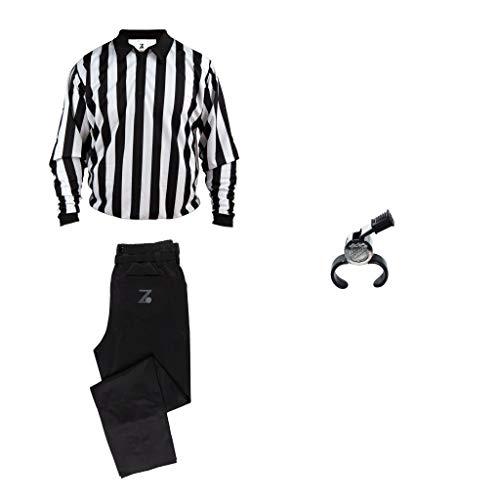Zebrasclub Hockey Referee Starter Package - Jersey/Pants/Whistle (Jersey M/Pants M/Whistle One Size)