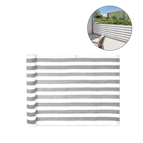 WMNRNYD Sichtschutzzaun mit Ösen, wetterbeständigem UV-Schutzgitter für Garten, Terrasse, Balkon, Pool, Veranda und Garten