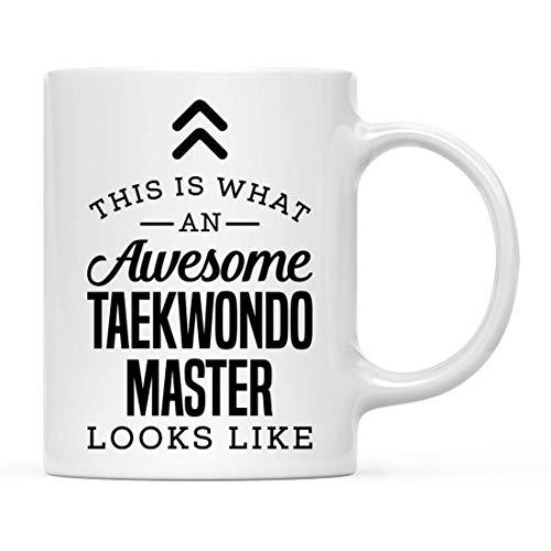 Taza de cerámica para té, café, Regalo de Agradecimiento, así es como se ve un Maestro de Taekwondo Impresionante, Ideas de Regalo para él, compañero de Trabajo, 11 oz