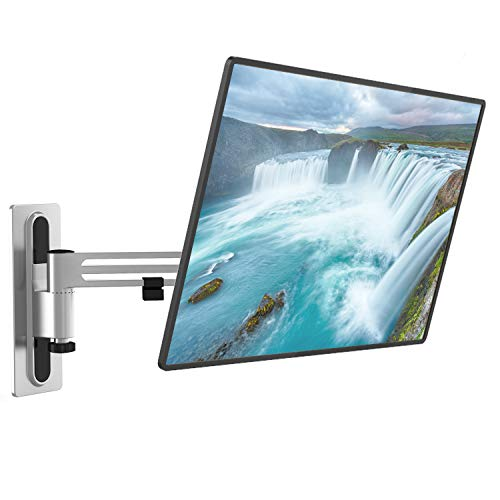 Lockable RV TV Wall Mount Full Motion Anti-Vibration Bracket Articulating Detachable Arm for Most 13-43 inch LED, LCD Flat Screen Display, up to 33lbs (1343LK), Metallic Gray by WALI
