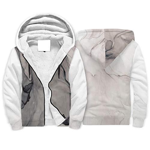 FFanClassic Sudadera con capucha de forro polar para hombre, suave, entallada, forro de color blanco