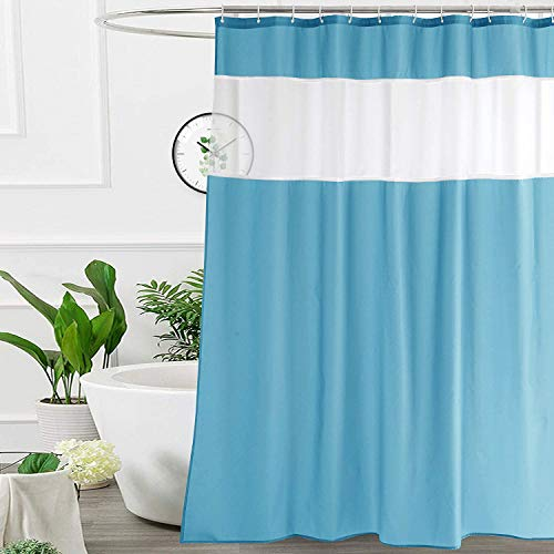 UFRIDAY 36x72 Inch Stall Shower Curtain with Mesh...