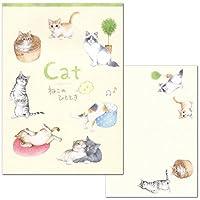 レターセット A5サイズ 猫のひととき ねこのひととき 4700402/4706902 (35) 便箋2柄16枚・封筒5枚 エヌビー社