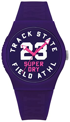 Superdry Urban Track & Field Analog Purple Dial Women's Watch-SYL182VV