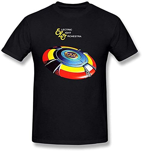 Qp6ker Men's The Very Best of Electric Light Orchestra ELO T Shirt Black [L]