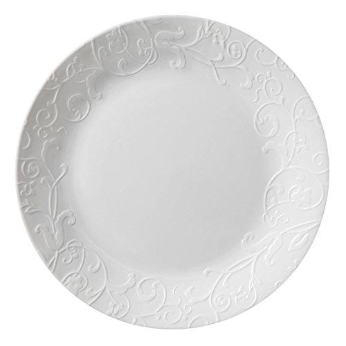 "Corelle Embossed Bella Faenza 10.25"" Dinner Plate (Set of 8)"